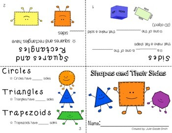 Shapes and their Sides Booklets