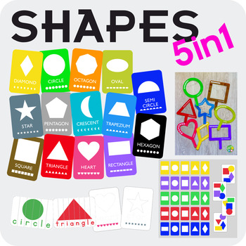 Shapes flash cards (A5)