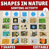 Shapes in Nature Montessori Sorting Cards