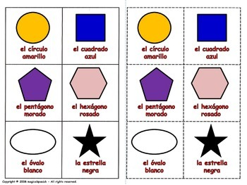 Shapes in Spanish / Las formas Geométricas en español (Boa