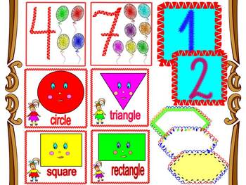 Shapes - labels - Numbers - Back to school activities