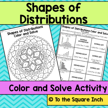 Shapes of Distributions Color and Solve