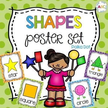 Shapes poster set - Polka Dot