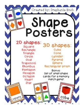 Shape posters - 2D&3D - bright colored - chevron