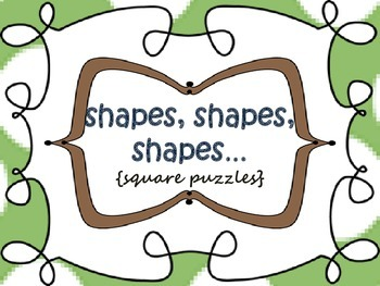 Shapes {square puzzles}