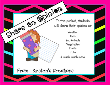 Share An Opinion:  A packet designed to introduce and rein