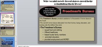 Sharecropping/Freedmen's Bureau PowerPoint