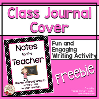 Shared Class Journal Cover - Notes to the Teacher (Female)