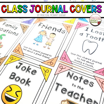 Shared Class Journal Cover Pages -Writing, Literacy Statio