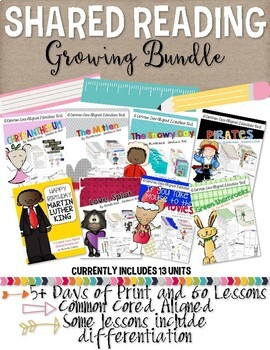 Reading Units: Growing Bundle