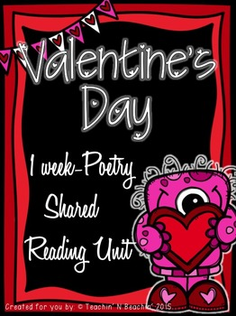 Shared Reading: Poetry Shared Reading Plans- Valentine's D