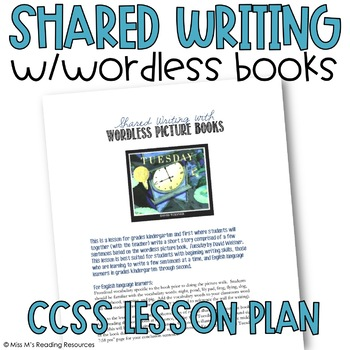 Shared Writing with Wordless Picture Books Lesson Plan