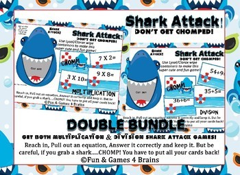 Shark Attack Double Bundle!!! Multiplication & Division fa