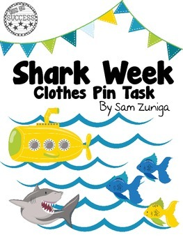 Shark Clothes Pin Task