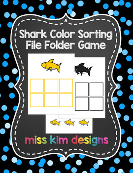 Shark Color Sorting Folder Game for students with Autism