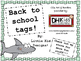 Shark Tags - Welcome Tags - Gift Tags