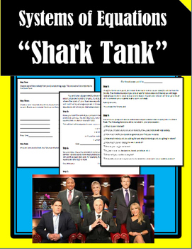 Shark Tank - Systems of Equations