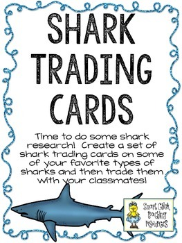 Shark Trading Cards ~ Research and Writing Activity ~ FREE!