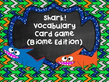 Shark! Vocabulary Card Review Game Life Science Bundle Set