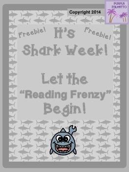 Shark Week Bookmarks Freebie