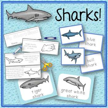 Shark Activities Book to Cut and Create, Matching Cards fo