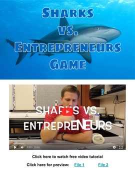 Sharks vs. Entrepreneurs Game. Free video tutorial at: you