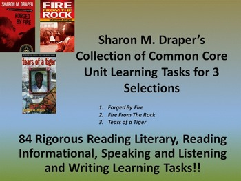Sharon Draper's Tears of a Tiger, Forged by Fire, and Fire