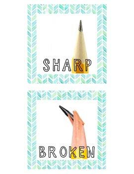 Sharp and Broken Pencil Signs