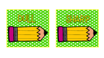 Sharp and Dull Pencil Can Labels