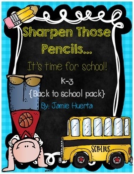Sharpen Those Pencils...It's Time For School! {A back to S