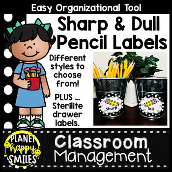Sharpened & Unsharpened Pencils or Sharp & Broken ~ Polka