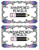 Sharpened and unsharpened pencil signs