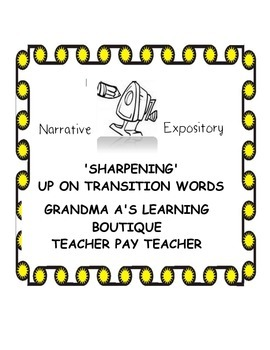 Sharpening Up On Transition Words In Writing