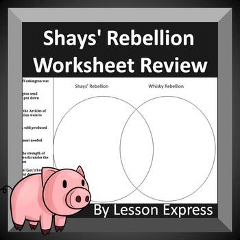 Shays' Rebellion and Whiskey Rebellion Review Worksheet