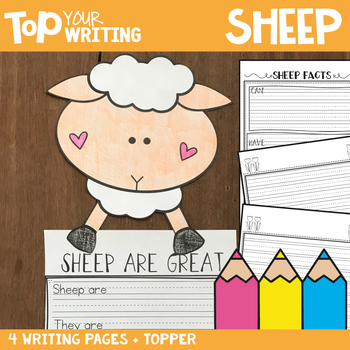 Sheep Writing with Topper