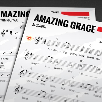 Recorder Sheet Music: Amazing Grace (Hymn)