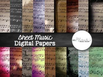 Sheet Music Digital Papers