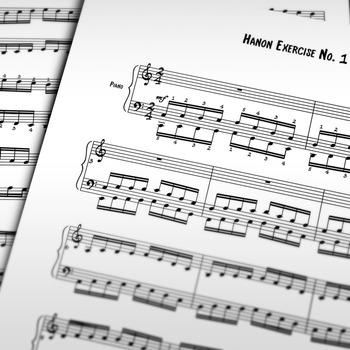 Piano Sheet Music: Hanon Exercise No.1