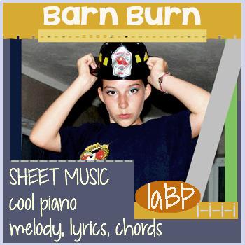 Sheet Music: Barn Burn