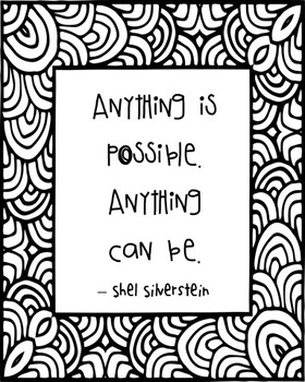 Shel Silverstein Inspirational Quote Poster, Library Art