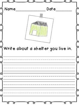 Grade 1 ELA Domain 8:Animals and Habitats: Shelter Writing