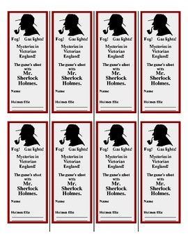 Sherlock Holmes Bookmarks (FREE!)