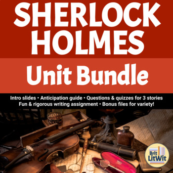 Sherlock Holmes Lesson Unit Bundle