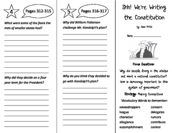 Shh! We're Writing the Constitution Trifold - Imagine It 5