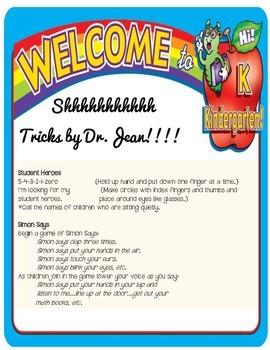 Shhhhh tricks from Dr. Jean