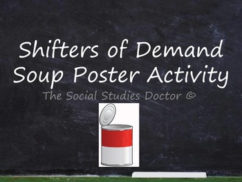Shifters of Demand (Soup Can Poster Activity)