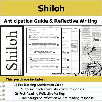 Shiloh - Anticipation Guide & Reflection