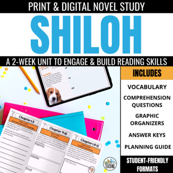 Shiloh Foldable Novel Study Unit