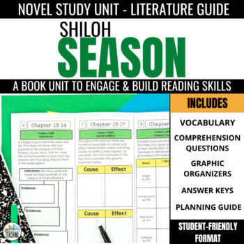 Shiloh Season Foldable Novel Study Unit
