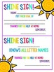 Shine Signs!  Little praise notes to send home with your s